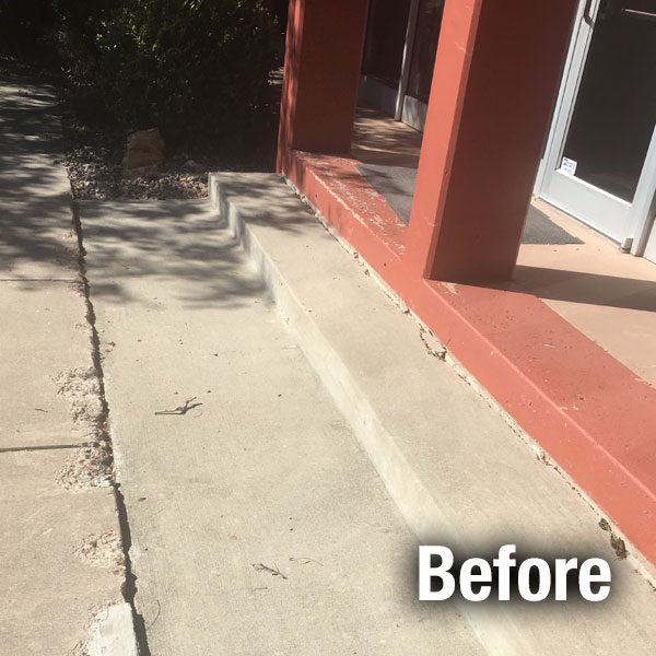 Commercial Concrete Repair - Lafayette - Before